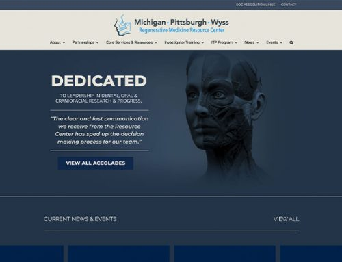 Michigan Pittsburgh Wyss Regenerative Medicine Resource Center Website