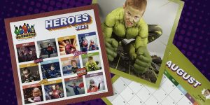 OCREATIONS DONATES CALENDAR DESIGN FOR SUPERHEROES BELIEVE IN MIRACLES